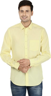 Le Luxe Men's Solid Formal Yellow Shirt