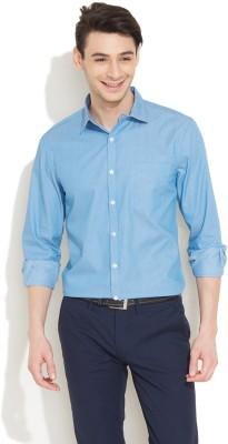 Coast Men's Striped Formal Light Blue Shirt
