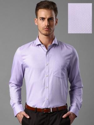 Invictus Men's Self Design Formal Purple Shirt