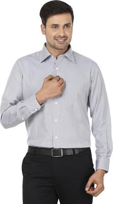 Wills Lifestyle Men's Printed Formal Grey Shirt