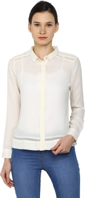 Arrow Womens Solid Casual White Shirt