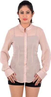 S9 Women's Solid Casual Beige, Multicolor Shirt