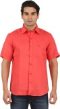 GM Men's Solid Formal Linen Multicolor S...