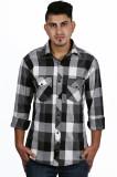 NED Men's Checkered Casual Multicolor Sh...