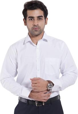 Mild Kleren Men's Solid Formal White Shirt