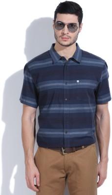 Quiksilver Men's Striped Casual Blue Shirt