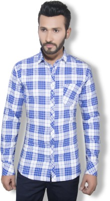 London Buck Men,s Solid Casual White Shirt