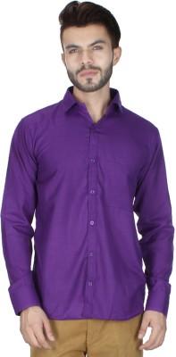 RVC FASHION Men's Solid Casual Purple Shirt