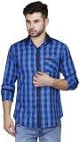 Human Steps Men's Checkered Casual Blue ...