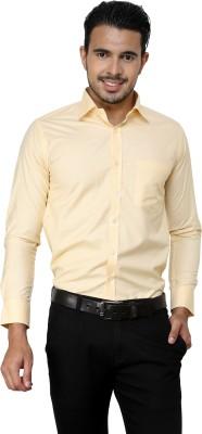 American Cult Men's Checkered Formal Reversible Yellow Shirt