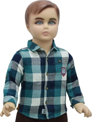 Urban Forest Baby Boy's Checkered Casual Green Shirt