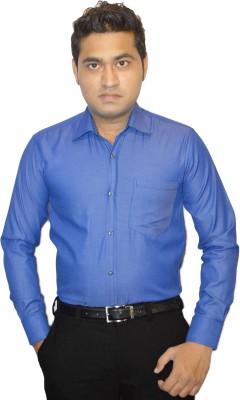 StyloFashionGarments Men's Solid Formal Blue Shirt
