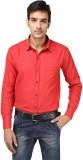 Aaral Men's Solid Formal Red Shirt