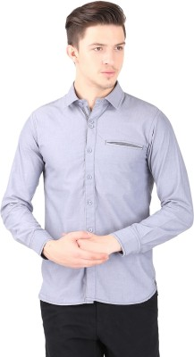 Cotton County Men's Solid Casual Grey Shirt