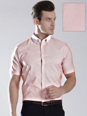 Invictus Men's Woven Formal Orange Shirt