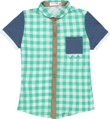 Baby Moshai Girl,s Checkered Casual Blue, White Shirt