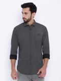 Indicode Men's Printed Casual Black Shir...