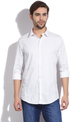 Arrow New York Men's Solid Casual White Shirt