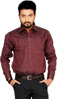 Indian Weller Men's Woven Formal Brown Shirt