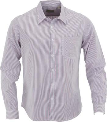 Aady Jones Men,s Striped Formal Pink Shirt