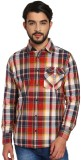 Silly People Men's Checkered Casual Red ...