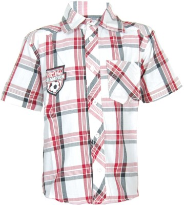 ANT Boy's Striped Casual Red Shirt