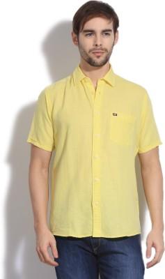 Arrow Sport Men's Solid Casual Yellow Shirt