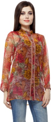 Hyipe Women's Floral Print Casual Multicolor Shirt