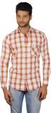 V Seven Men's Checkered Casual Orange, W...