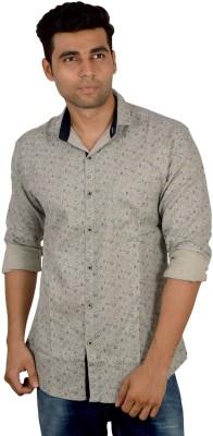 Studio Nexx Men's Printed Casual Grey Shirt