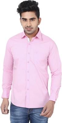 Crocks Club Men's Solid Casual Pink Shirt