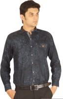 Orojns Formal Shirts (Men's) - Orojns Men's Printed Formal Dark Blue Shirt