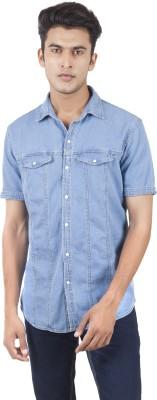Vazir Men's Solid Casual, Lounge Wear Light Blue Shirt