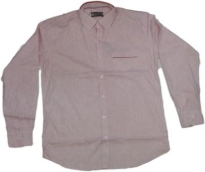 rc Men's Self Design Casual Pink Shirt