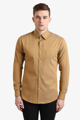 Alvin Kelly Men's Solid Casual Beige Shirt