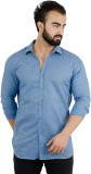 Henry Club Men's Solid Casual Blue Shirt