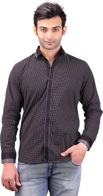 Clubstone Men's Printed Casual Black Shirt