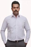 S mark Formal Shirts (Men's) - S-Mark Men's Self Design Formal White Shirt