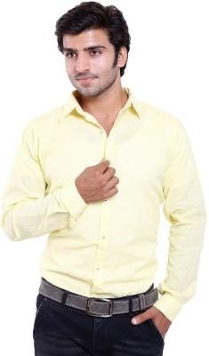 agarwal enterprices Men's Solid Casual Yellow Shirt