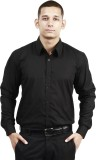 Trendster Men's Solid Formal Black Shirt