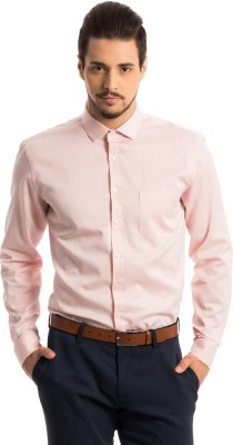 Specimen Men,s Self Design Formal Pink Shirt