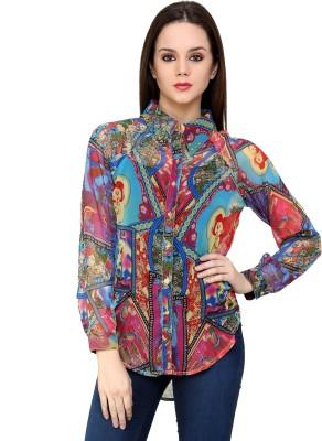 Shilpkala Women's Printed Formal Multicolor Shirt