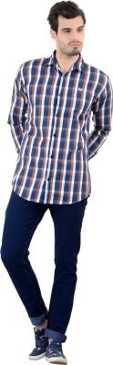 Piccolo Clothings Men's Checkered Casual Brown Shirt