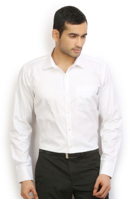 Odin Men's Solid Casual White Shirt