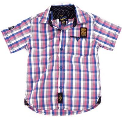 Einstein Boy's Checkered Casual Blue, Pink, Grey Shirt