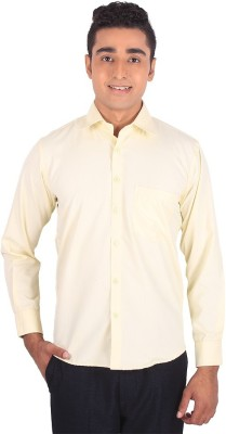 Henry Spark Men's Solid Formal Yellow Shirt