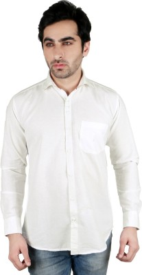 Being Friends Men's Solid Casual White Shirt