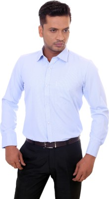 Countryside Men's Solid Formal Light Blue Shirt