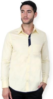 Blackbuk India Men's Solid Casual Yellow Shirt