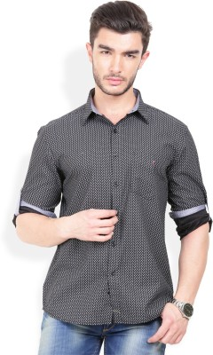 Bay Ridge Men's Printed Casual Black Shirt